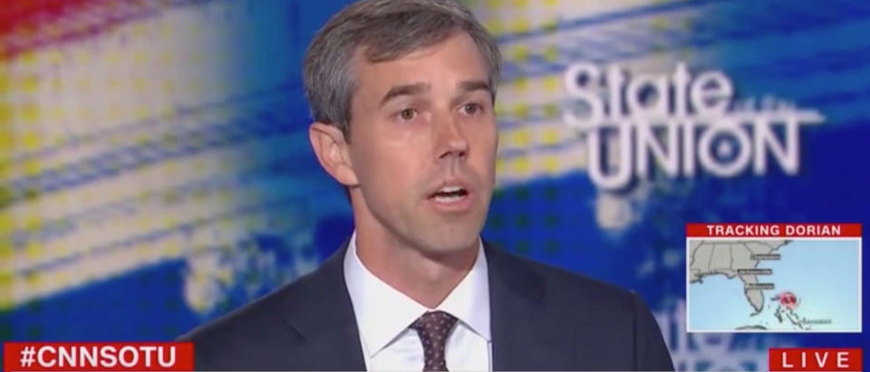 "Beto O'Rourke appears on CNN's ""State of the Union."" Screen Shot/CNN"