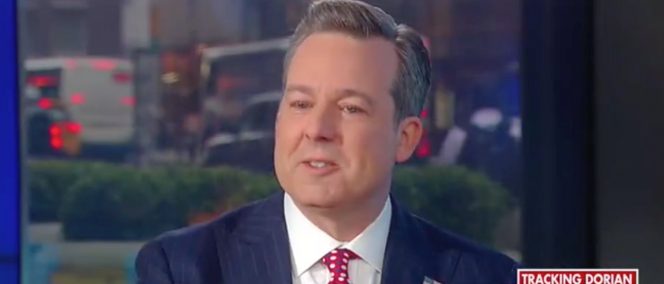 Ed Henry returns to Fox News after transplant surgery. Screen Shot/Fox News