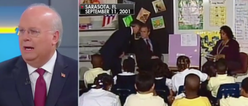 Karl Rove remembers the moment President George W. Bush was told about the 9/11 attacks. Screen Shot/Fox News