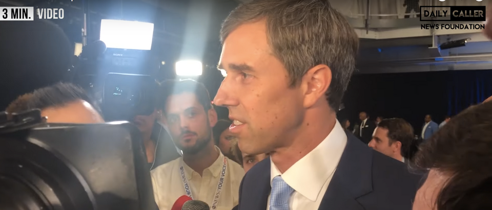 Beto ORourke defends his ban on AR-15s after the ABC News debate. Screenshot/DCNF