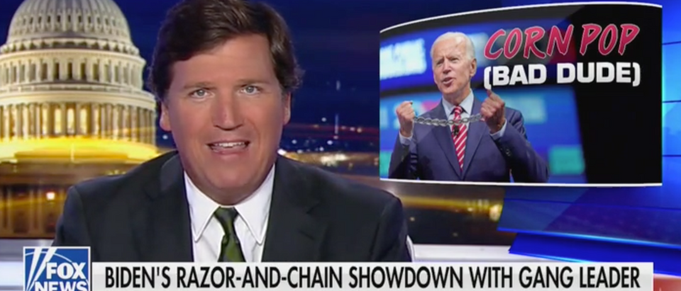 "Tucker Carlson hosts ""Tucker Carlson Tonight"" on Fox News. Screen Shot/Fox News"