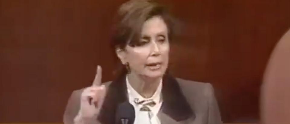 Nancy Pelosi speaks on the House floor in December, 1998. Screen Shot/C-Span
