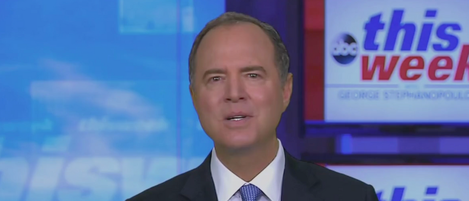 Adam Schiff confirmed that the whistleblower has agreed to testify. (Screenshot ABC News)