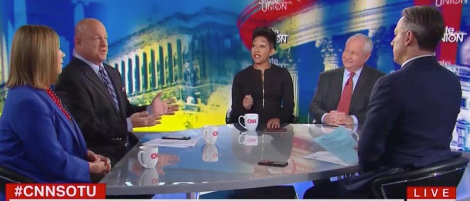 CNN panel heats up over Trump-Ukraine phone call. Screen Shot/CNN