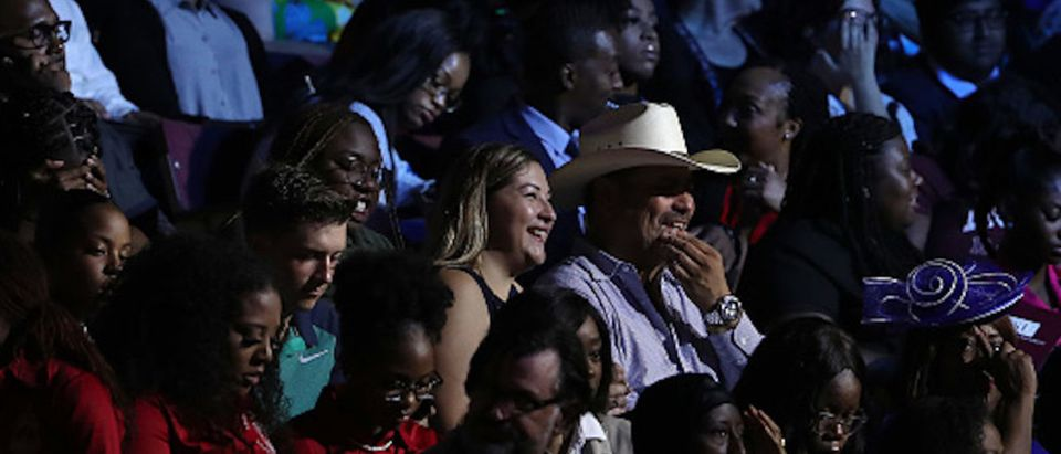 The audience is seated as they await the start of the Democratic Presidential Debate at Texas Southern University's Health and PE Center on September 12, 2019 in Houston, Texas