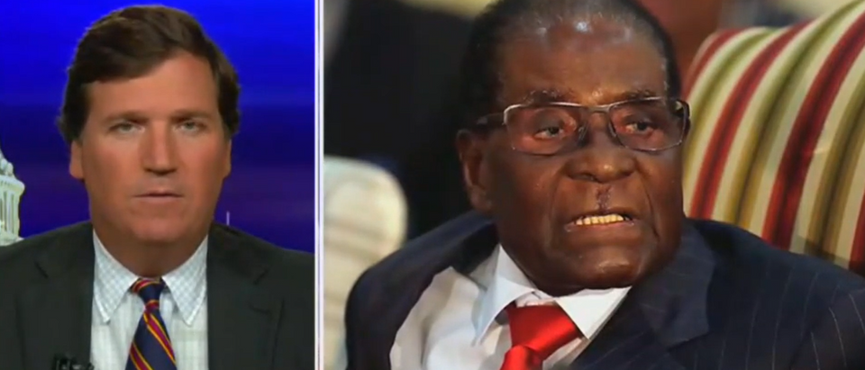 Tucker Carlson blasts ambassador to Zimbabwe after Mugabe tweet (Fox News screengrab)
