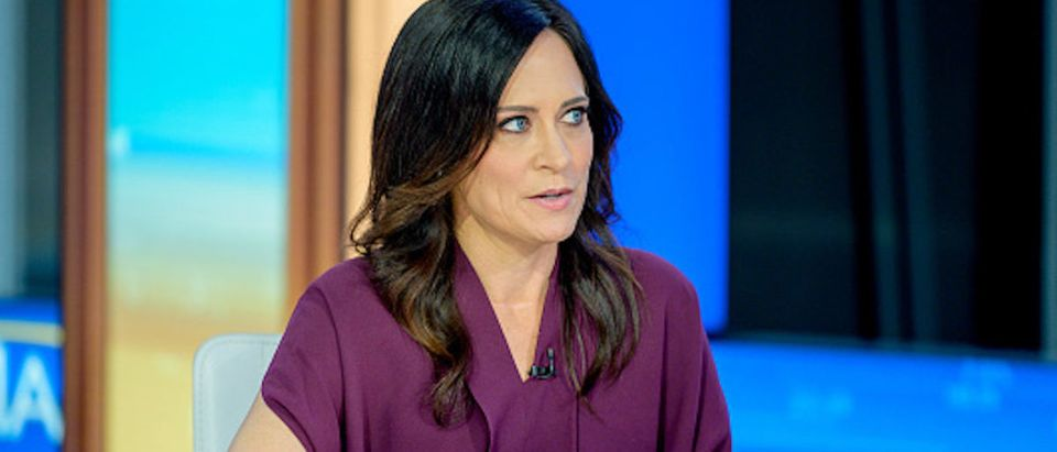 White House Press Secretary Stephanie Grisham visits Mornings With Maria with Anchor Maria Bartiromo at Fox Business Network Studios on September 23, 2019 in New York City