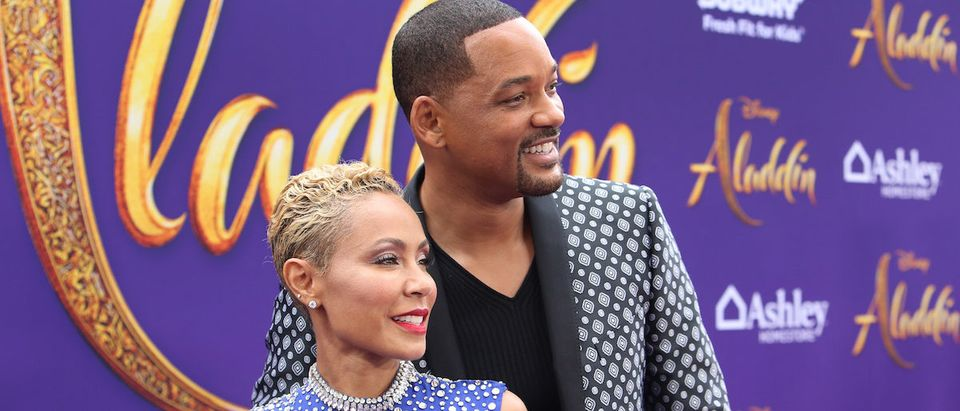 "Jada Pinkett Smith (L) and Will Smith attend the World Premiere of Disneys ""Aladdin"" at the El Capitan Theater in Hollywood CA on May 21, 2019, in the culmination of the films Magic Carpet World Tour with stops in Paris, London, Berlin, Tokyo, Mexico City and Amman, Jordan. (Photo by Jesse Grant/Getty Images for Disney)"