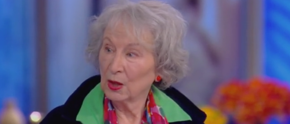 "Margaret Atwood appears on ABCs ""The View."" Screen Shot/ABC"