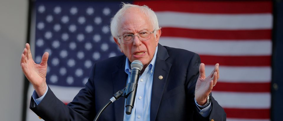 Democratic 2020 U.S. presidential candidate and U.S. Senator Bernie Sanders (I-VT) speaks at a campaign rally in Dover, New Hampshire, U.S. September 1, 2019. REUTERS/Brian Snyder/File Photo