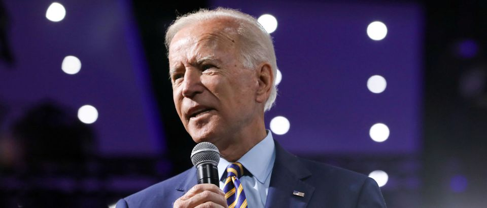 2020 Democratic U.S. presidential candidate and former Vice President Joe Biden speaks during the Presidential Gun Sense Forum in Des Moines, Iowa, U.S., August 10, 2019. REUTERS/Scott Morgan