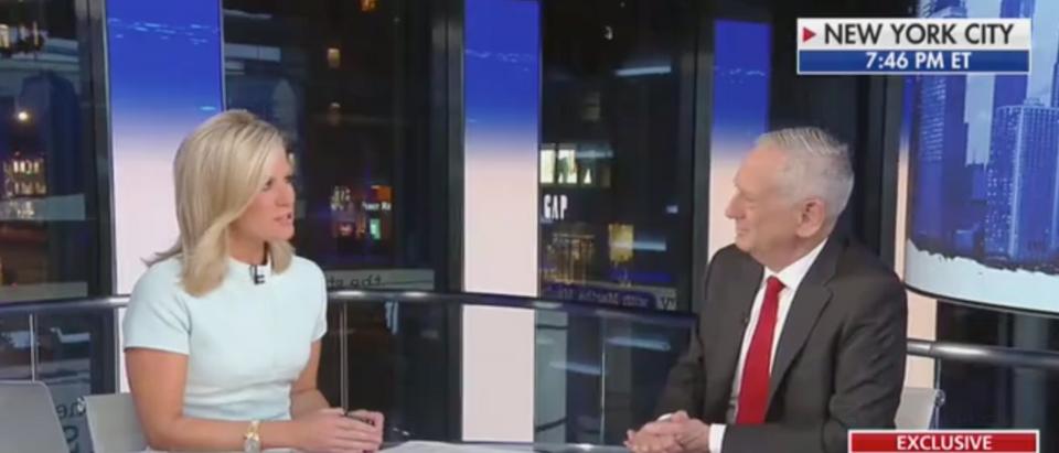 James Mattis gives an interview to Fox News host Martha MacCallum. Screen Shot/Fox News
