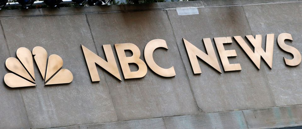 A sign is seen outside the set of the NBC News Today Show at Rockefeller Center in New York City