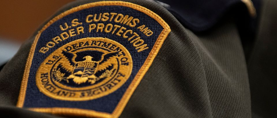 A U.S. Customs and Border Protection patch on the uniform of Rodolfo Karisch, Rio Grande Valley sector chief patrol agent for the U.S. Border Patrol (Alex Edelman/Getty Images)