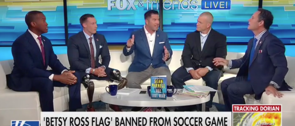 Veterans panel responds to Betsy Ross flag ban at soccer game. Screen Shot/Fox News