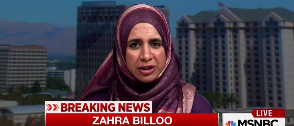 Womens March board member Zahra Billoo (Screenshot/MSNBC)