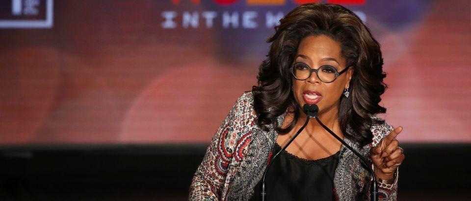 Oprah Winfrey takes part in the Women In The World Summit in New York