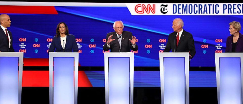 A record 12 presidential hopefuls are participating in the debate hosted by CNN and The New York Times. (Photo by Win McNamee:Getty Images)