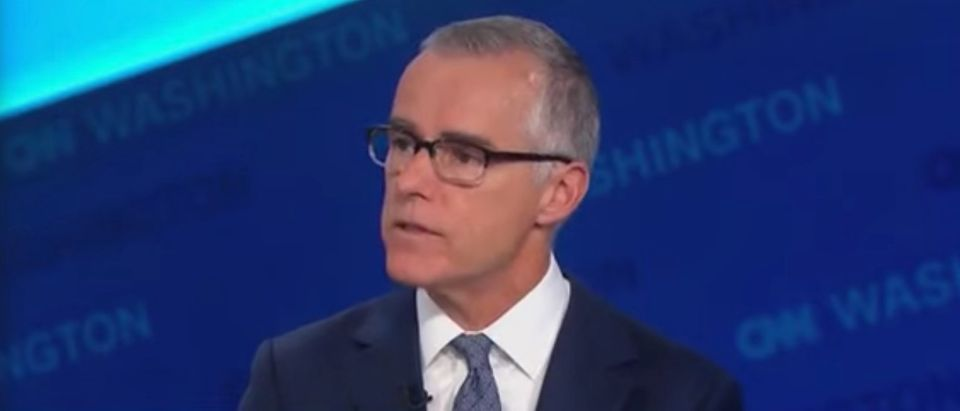 Andrew McCabe on CNN, Oct. 25, 2019. (Youtube screen capture)