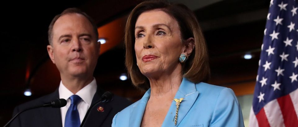 House Intelligence Committee Chairman Adam Schiff joins Speaker Pelosi's news conference at the U.S. Capitol in Washington