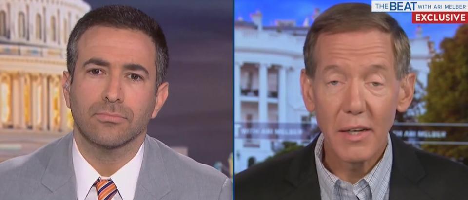 Carl Cameron criticizes Fox News (MSNBC screengrab)
