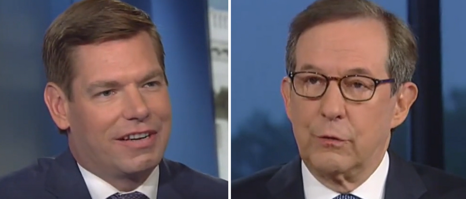 Chris Wallace questions Eric Swalwell on impeachment (Fox News screengrabs)