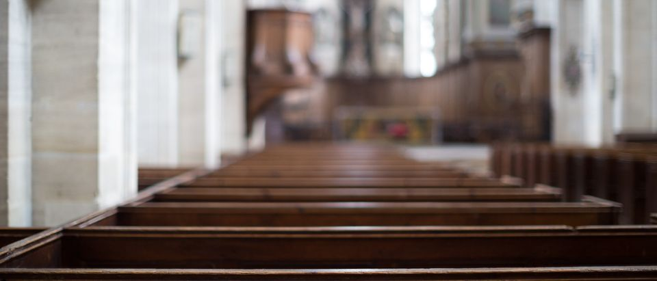 An empty church is pictured. Shutterstock