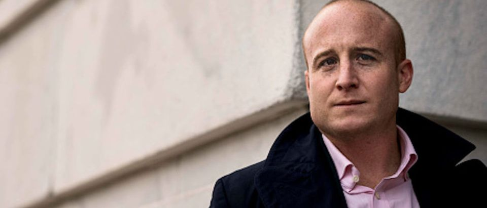 Congressman-elect Max Rose (D-NY) for the 116th Congress stands outside the Longworth House Office building on Capitol Hill in Washington, DC on Friday November 30, 2018