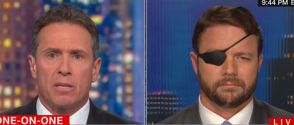 Dan Crenshaw discusses impeachment with Chris Cuomo (CNN screengrab)