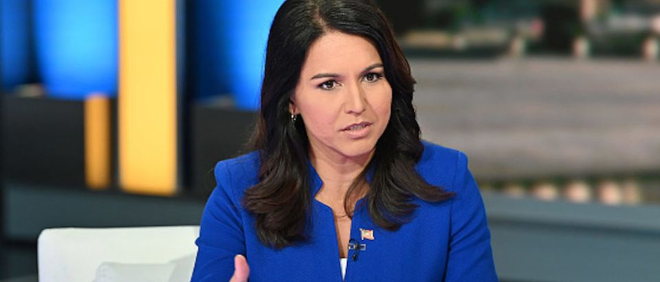 Democratic Presidential Candidate Tulsi Gabbard visits FOX & Friends at Fox News Channel Studios on September 24, 2019 in New York City
