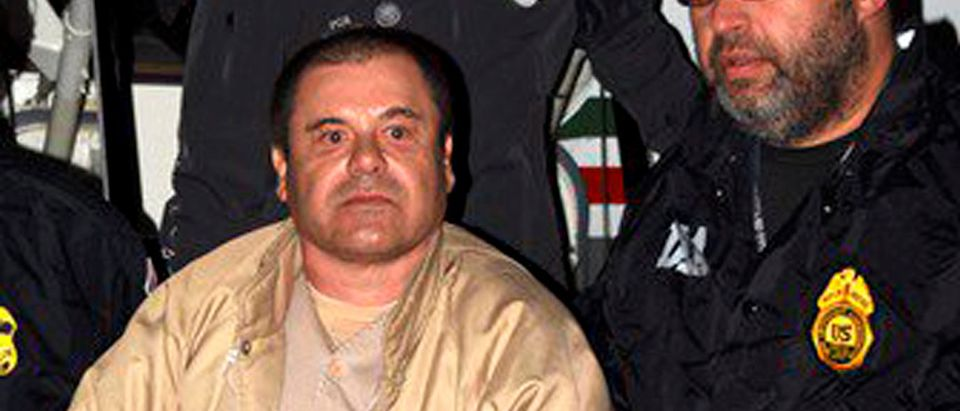 "Mexican drug lord Joaquin ""El Chapo"" Guzman is shown shortly after extradition in New York"