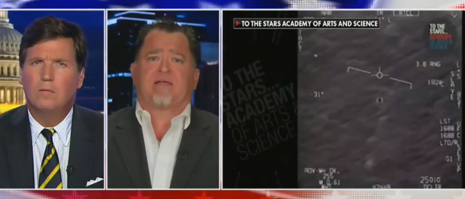 Former military intelligence official discusses UFO material (Fox News screengrab)