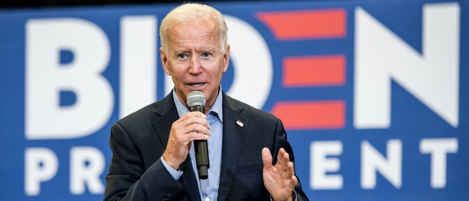 Democratic presidential candidate and former US Vice President Joe Biden addresses a crowd at a town hall event at Clinton College on Aug. 29, 2019 in Rock Hill, South Carolina.(Photo by Sean Rayford/Getty Images)