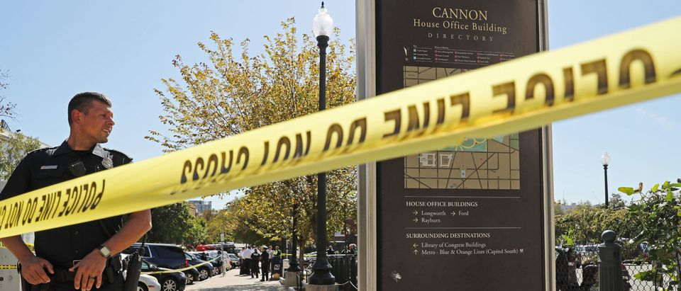 District of Columbia Metro Police, U.S. Capitol Police and other law enforcement officials respond to a stabbing at the Capitol South Metro station a block away from the Cannon House Office Building on Capitol Hill, Oct. 11, 2019 in Washington, D.C. (Photo by Chip Somodevilla/Getty Images)