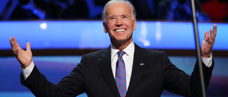 U.S. Vice President Joe Biden walks on stage during the final day of the Democratic National Convention at Time Warner Cable Arena on Sept. 6, 2012 in Charlotte, North Carolina. (Photo by Chip Somodevilla/Getty Images)