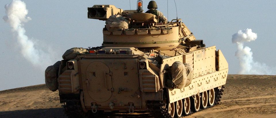 U.S. Troops Prepare For Action On The Iraqi Border