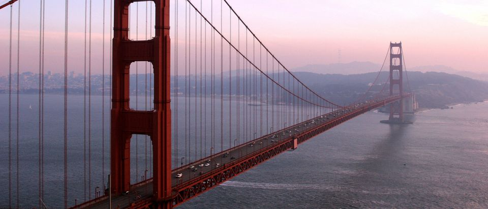 The Golden Gate Bridge is pictured 20 De