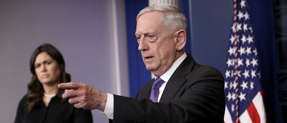 Defense Secretary Mattis Holds Media Briefing At The White House