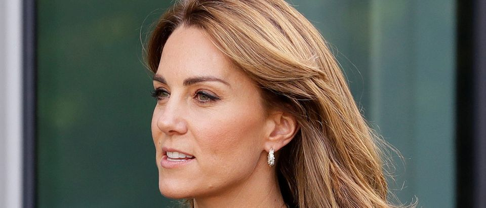 Britain's Catherine, Duchess of Cambridge, leaves the Natural History Museum where she visited the Angela Marmont Centre for UK Biodiversity in London, Britain October 9, 2019. Kirsty Wigglesworth/Pool via REUTERS