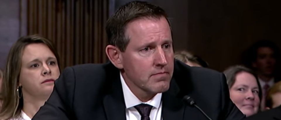 Lawrence VanDyke testifies before the Senate Judiciary Committee on Oct. 30, 2019. (YouTube screenshot/Senator Josh Hawley)