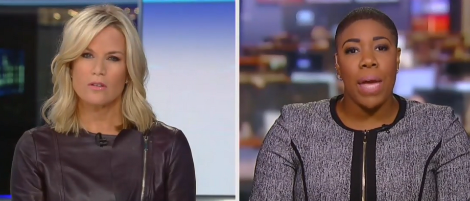 Martha MacCallum pressed Symone Sanders on Hunter Biden issue (Fox News screengrab)
