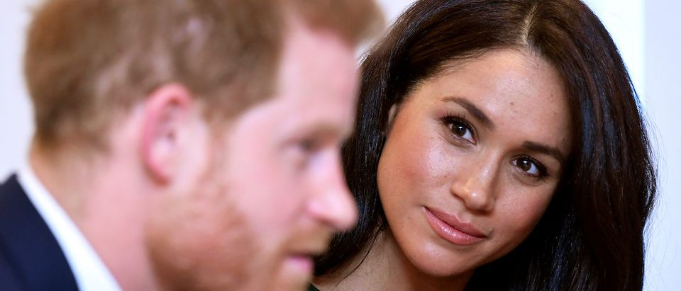 Meghan, Duchess of Sussex, looks at Britain's Prince Harry during the WellChild Awards pre-Ceremony reception in London, Britain, October 15, 2019. REUTERS/Toby Melville/Pool
