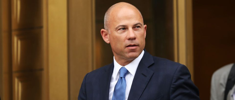 Celebrity attorney Michael Avenatti walks out of a New York court house on July 23, 2019. (Spencer Platt/Getty Images)