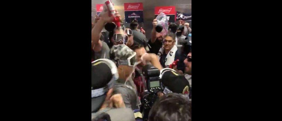 Washington Nationals celebration videos (Credit: Screenshot/Twitter Video https://twitter.com/masnNationals/status/1189765333944426497)