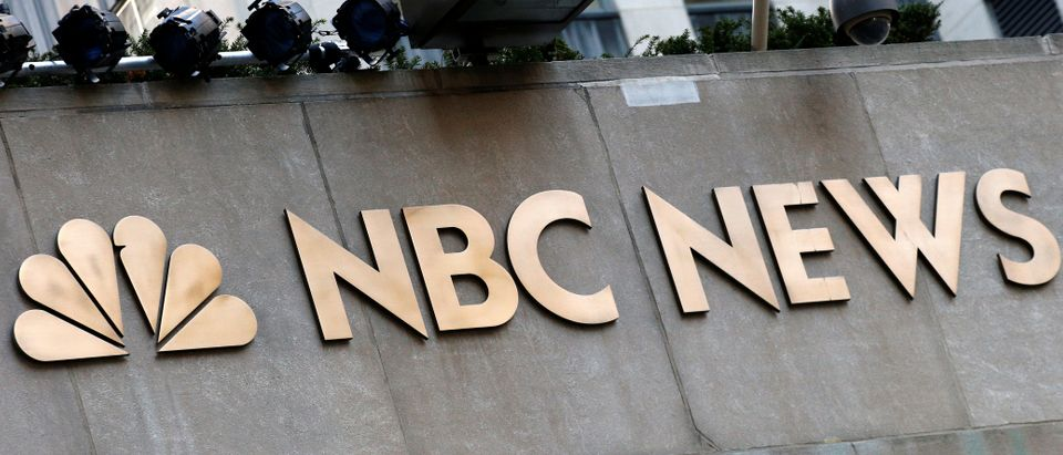 A sign is seen outside the set of the NBC News Today Show at Rockefeller Center in New York City, U.S., November 29, 2017. (REUTERS/Brendan McDermid)