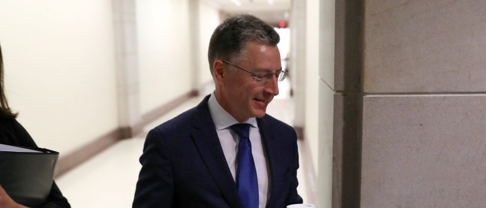 Volker arrives to be interviewed as part of the U.S. House impeachment inquiry into President Trump's dealings with Ukraine, at the U.S. Capitol in Washington