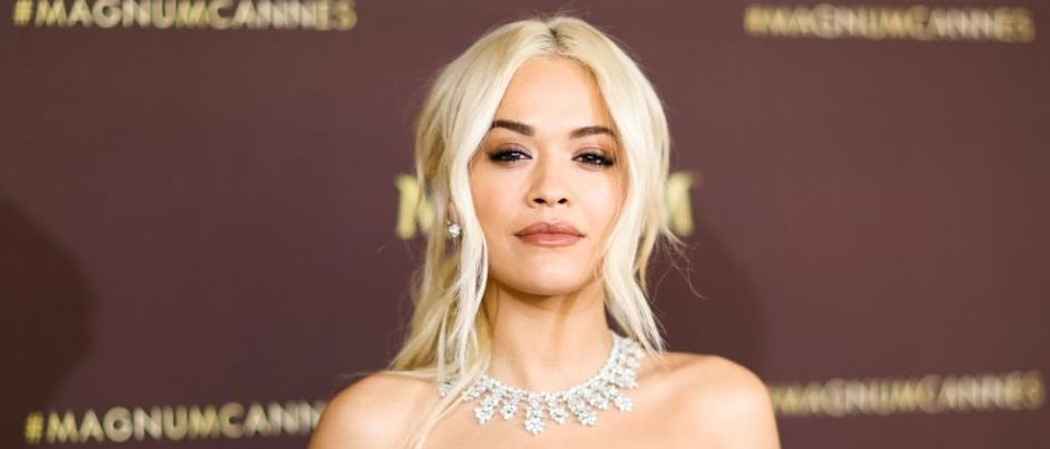 British singer Rita Ora poses during a photocall at hte Magnum Beach on the sidelines of the 72nd edition of the Cannes Film Festival in Cannes, southern France, on May 16, 2019. (Photo credit: VALERY HACHE/AFP/Getty Images)