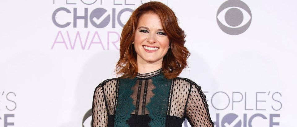Actress Sarah Drew arrives at the People's Choice Awards 2016 in Los Angeles, California January 6, 2016. REUTERS/Danny Moloshok