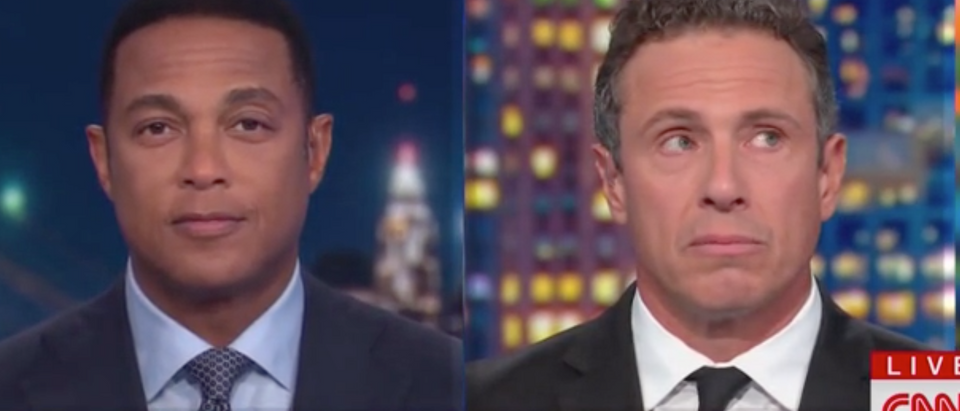 Don Lemon and Chris Cuomo appear on CNN. Screen Shot/CNN