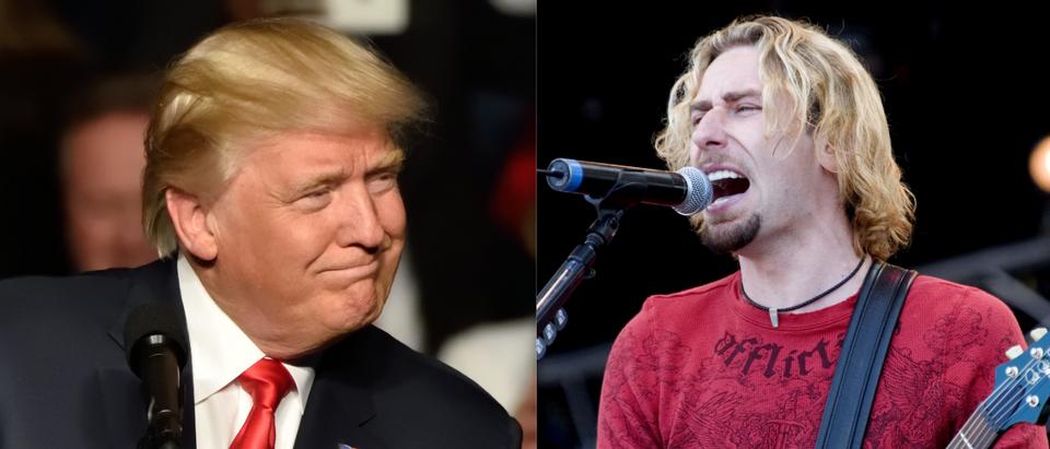 Trump and Nickelback. (Shutterstock/Evan El-Amin)(Shutterstock/Rene Hartmans)